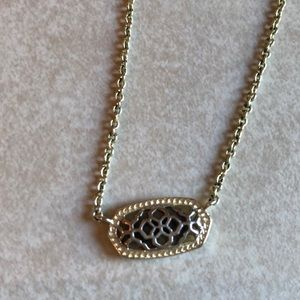 Kendra Scott two tone filigree necklace